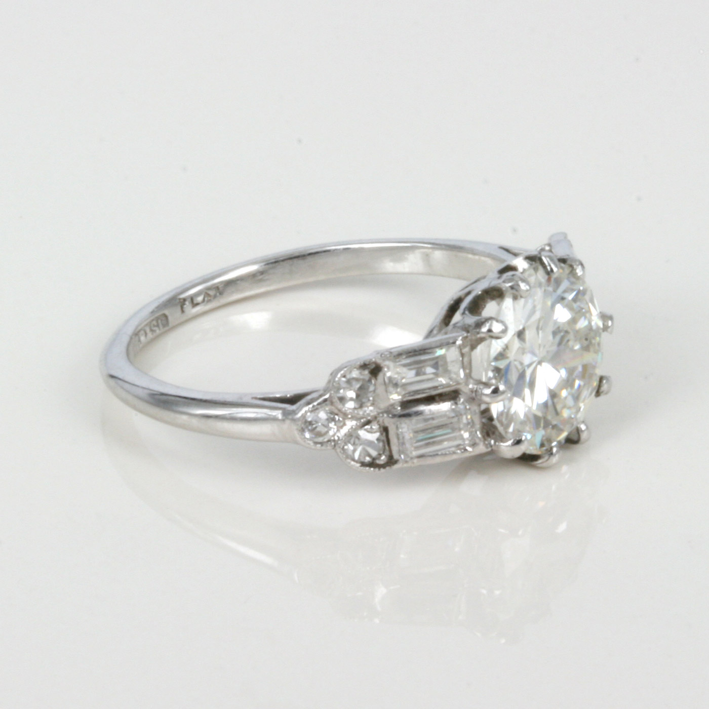 with aw rd halo setting natural cut rings art nouveau diamond gia round engagement white ring hexagonal hal deco gold