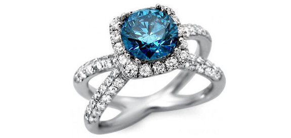 Blue Diamond Engagement Rings