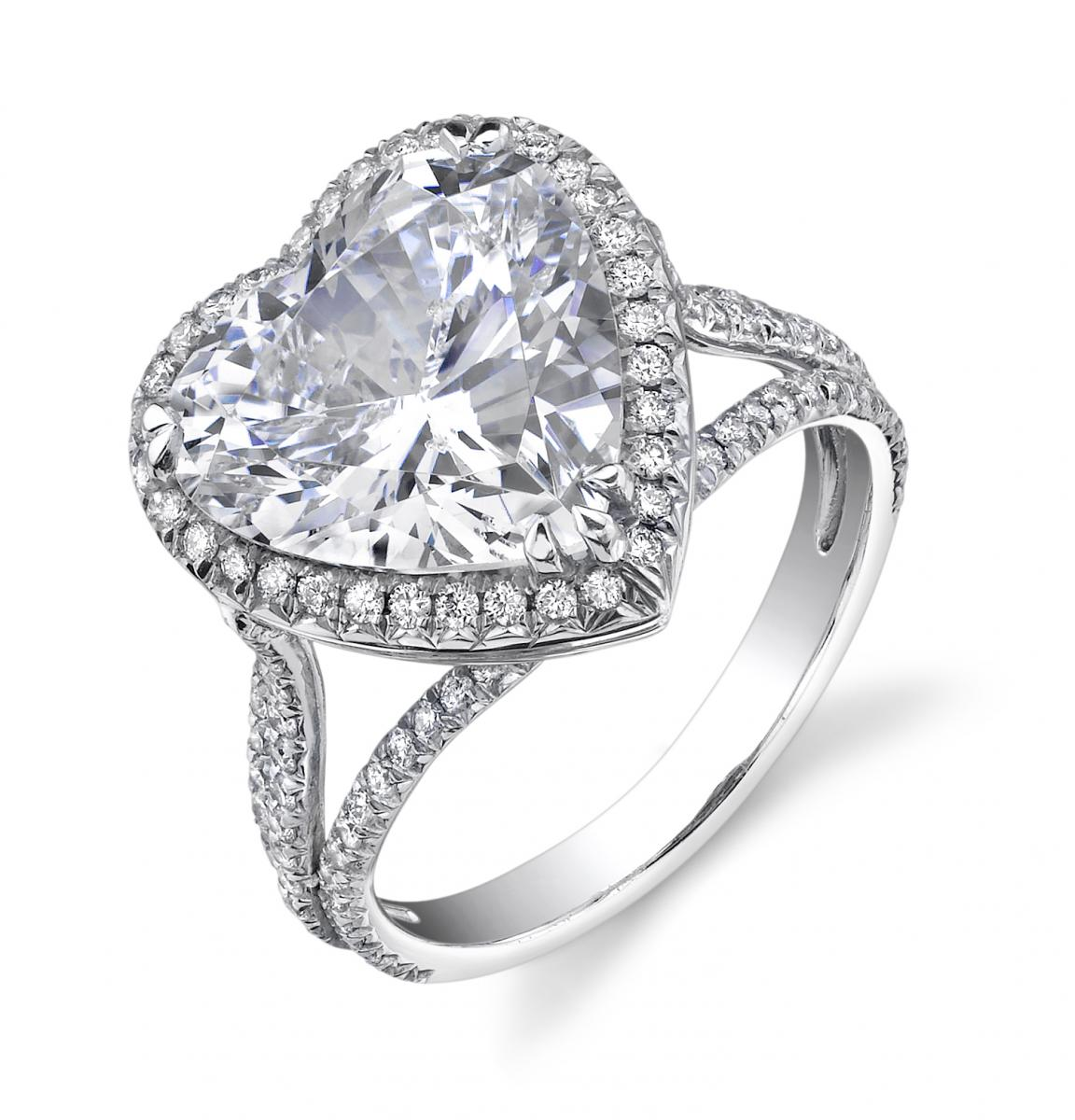 show your love by giving a heart shaped engagement ring