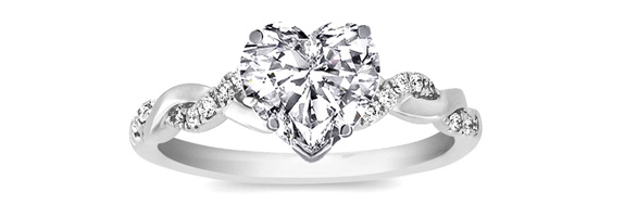 Show Your Love By Giving A Heart-Shaped Engagement Ring