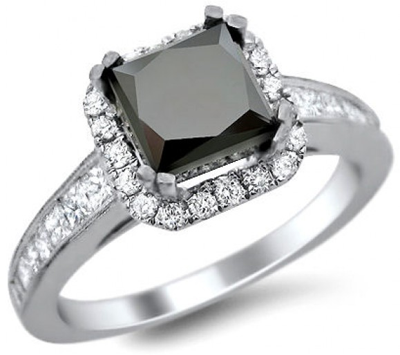 silver-and-balck-engagement-ring