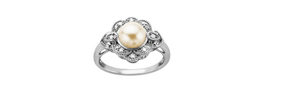 Pearl Engagement Rings